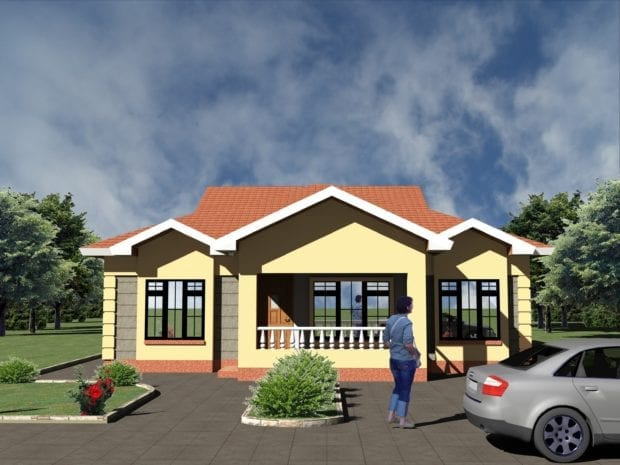 3 Bedroom Bungalow Plan