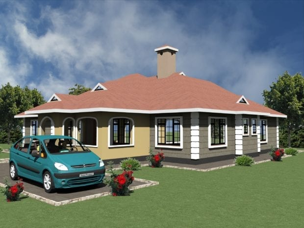 3 Bedroom Design 1238 B 2
