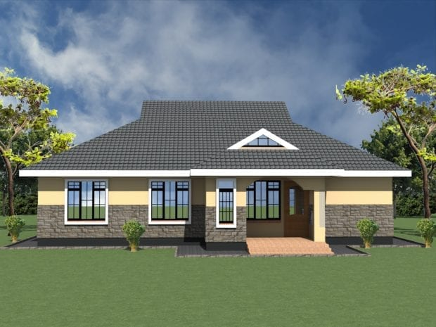 4 bedroom bungalow floor plan