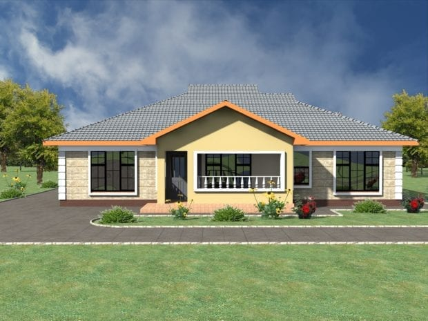 low pitch roof house plans