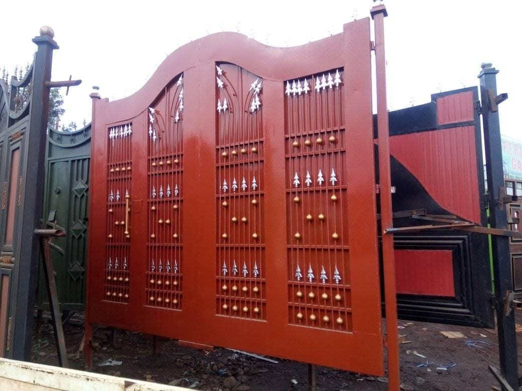 modern steel gate design