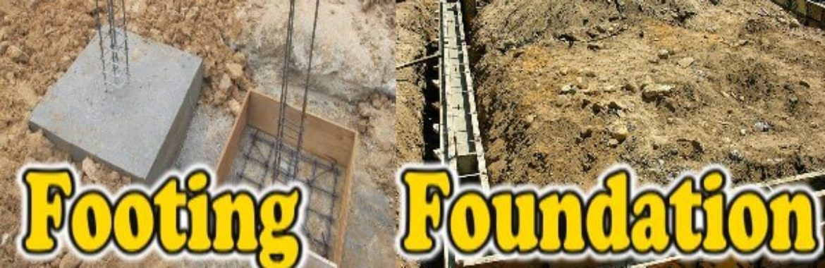 Foundation Footing: Difference between Foundation and Footing